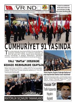 """""""Abdullah TÜM"""" Trafik Kazasında Hayatını Kaybetti 3.sayfada"""