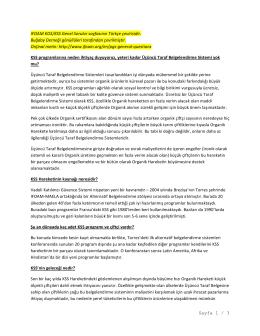 IFOAM KOS Genel Sorular Sayfası Türkçe Çevirisi
