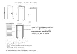 Kapı kanadı detayı - 17 adet 90/ 200 ölçülerinde ahşap kapılar