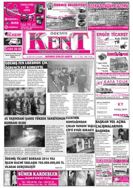 10-01-2015 Tarihli Kent Gazetesi