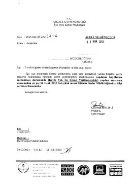 3 o Aralık zum - erzurum - aşkale ilçe millî eğitim müdürlüğü