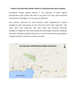 27 Nisan 2014, Edremit Körfezi ve Kazdağları