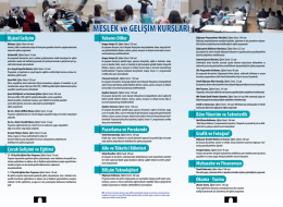 MESLEK ve GELİŞİM KURSLARI - Küçükçekmece Belediyesi Hayat