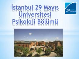 Psikoloji Bölümü - İstanbul 29 Mayıs Üniversitesi