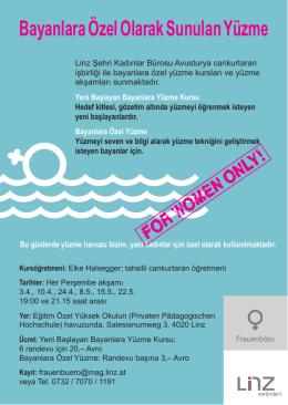 Bayanlara Özel Olarak Sunulan Yüzme