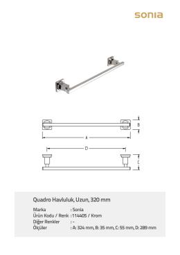 Quadro Havluluk, Uzun, 320 mm