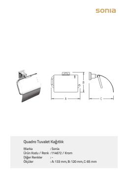 Quadro Tuvalet Kağıtlık