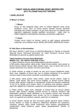 2013 Yılı İdari Faaliyet Raporu - Çevre ve Şehircilik Bakanlığı