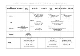 Odyoloji Lisans 2. Sınıf.2013-2014 bahar ders programı