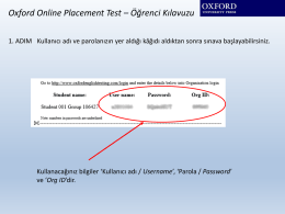 Oxford Online Placement Test – Öğrenci Kılavuzu