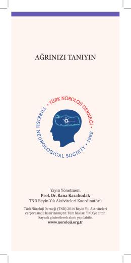Agrınızı Tanıyın - Türk Nöroloji Derneği
