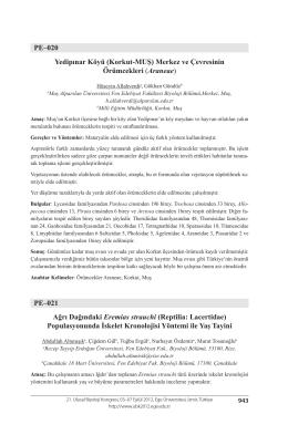 Korkut-MUŞ - Biyoloji Kongreleri