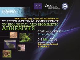 2. Uluslararası Biyolojik ve Biyomimetik Yapışkanlar Konferansı
