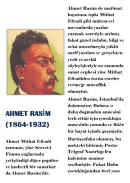 AHMET RASİM (1864