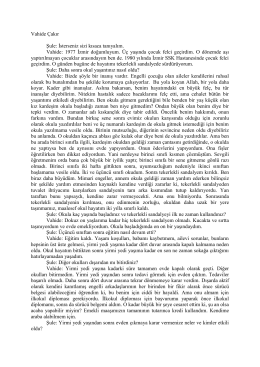 Vahide Çakır - Engelliler Konfederasyonu