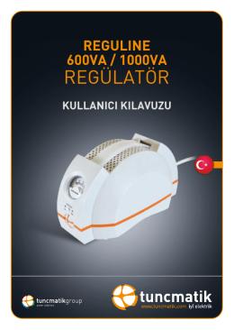 Reguline 600VA / 1000VA Türkçe Kullanım Kılavuzu