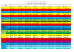 22 / 09 / 2014 Tarihli Ders Programı