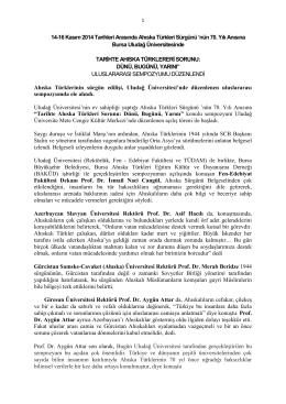 tarihte ahıska türklereri sorunu - Fen-Edebiyat Fakültesi