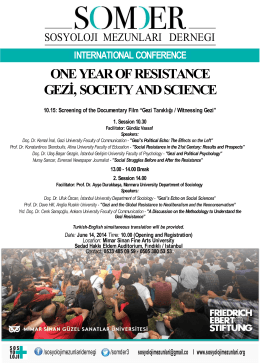 one year of resıstance gezi, socıety and scıence