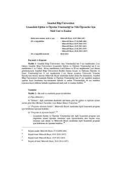 Kayıt Dondurma ve Sildirmeye İlişkin Usul ve Esaslar (Lisansüstü)