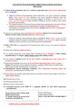 lisansüstü öyp(araştırma görevlisi)