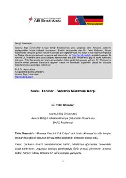 Almanya Notları 1 - İstanbul Bilgi Üniversitesi