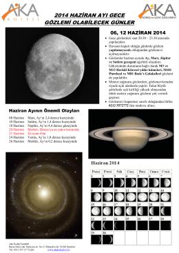 Haziran 2014 Gözlem Günleri