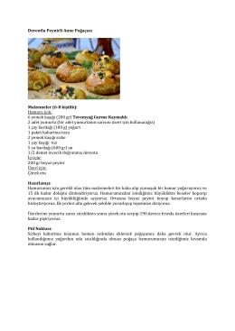 Dereotlu Peynirli Anne Poğaçası Malzemeler (6
