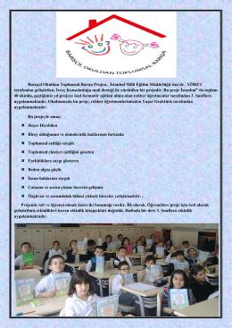 Barışçıl Okuldan Toplumsal Barışa Projesi, İstanbul Milli Eğitim