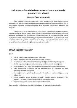 ORİON VAKFI ÖZEL PİRİ REİS OKULLARI 2013