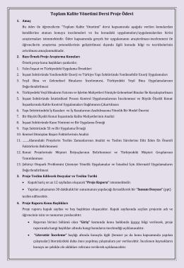 odev dosyası toplam kalite yönetimi inşaat mühendisliği 2014 2015