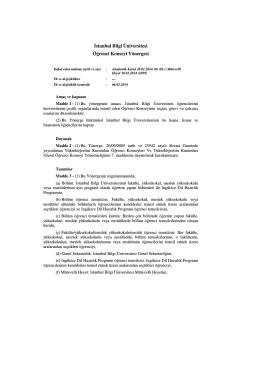 Đstanbul Bilgi Üniversitesi Öğrenci Konseyi Yönergesi