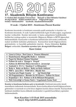 17. Akademik Bilisim Konferansı
