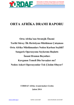 orta afrika dramı raporu