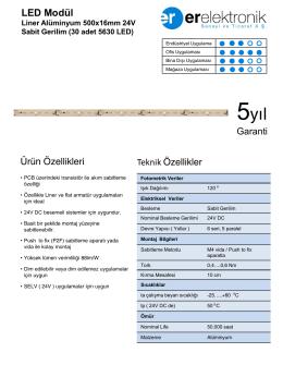 Liner Alüminyum 500x16mm 24V Sabit Gerilim (30
