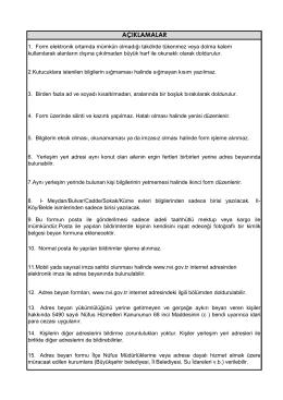 FORM A - Arka Sayfa