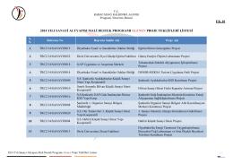ek-10 2014 yılı sanayi altyapısı mali destek programı elenen proje