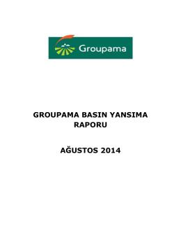 groupama basın yansıma raporu ağustos 2014