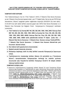 ISDN PRI Taahhutname