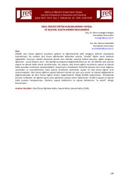 18.Işıkoğlu Erdoğan - Eğitim ve Öğretim Araştırmaları Dergisi