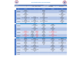 Ders Programı - Edebiyat Fakültesi