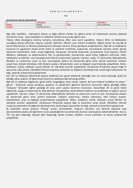Kürt Dili ve Edebiyatı - Milli Eğitim Bakanlığı