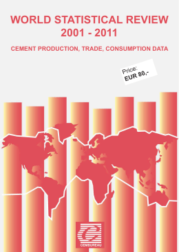 world statistical review 2001 - 2011 cement production, trade