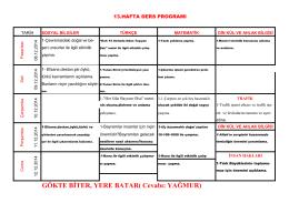 13.Hafta Çalışma Programı - antakyaatakoleji.k12.tr