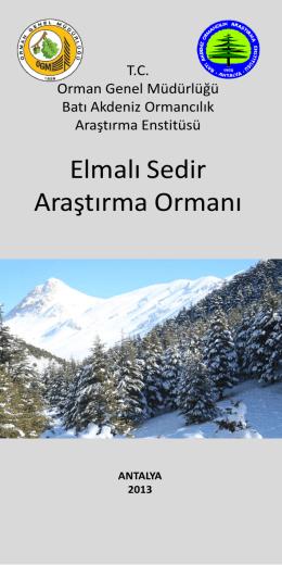 Elmalı Sedir Araştırma Ormanı - Batı Karadeniz Ormancılık Araştırma