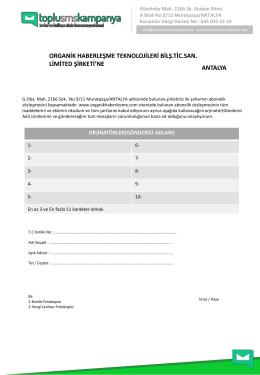 Başlık Talep Formu - TopluSmsKampanya.NET