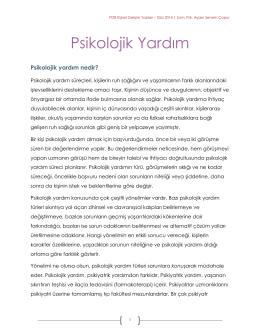Psikolojik Yardım - İstanbul Bilgi Üniversitesi
