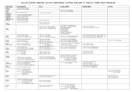 Ders Programı - Atatürk İlkeleri ve İnkılap Tarihi