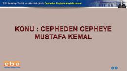 TC İnkılap Tarihi ve Atatürkçülük Cepheden Cepheye Mustafa