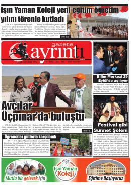 16 Eylül 2014 Salı - PolatliAyrinti.Com